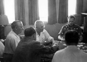 President Truman playing poker with friends