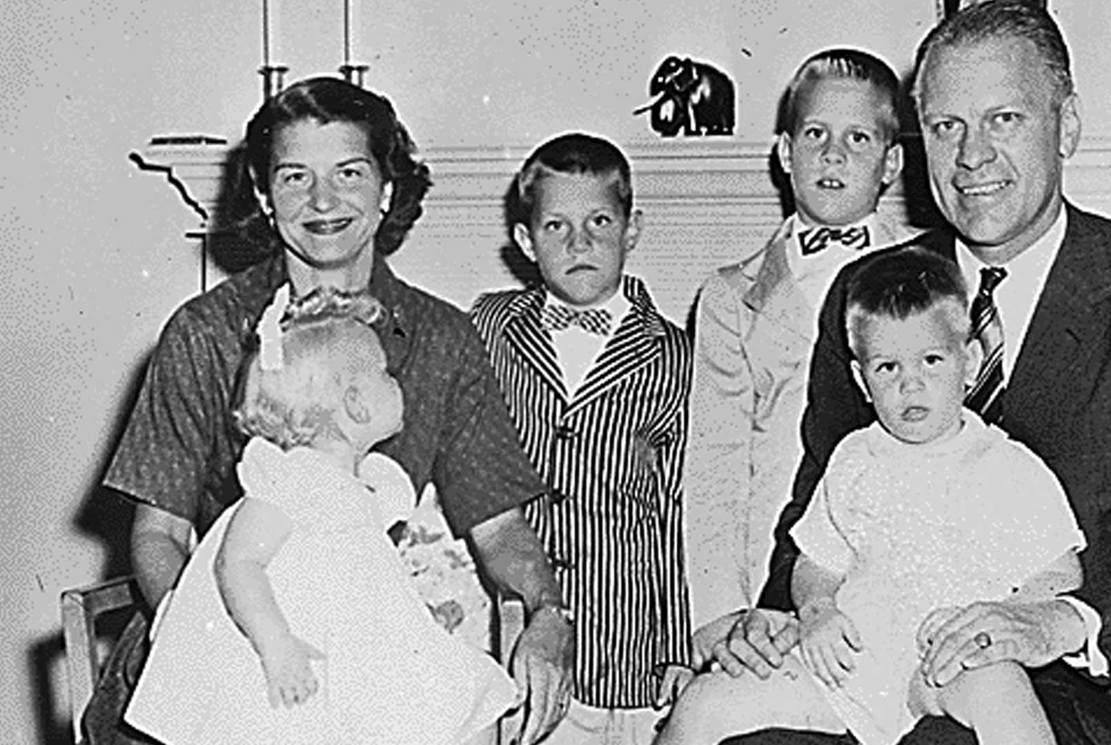 Betty Ford and her family