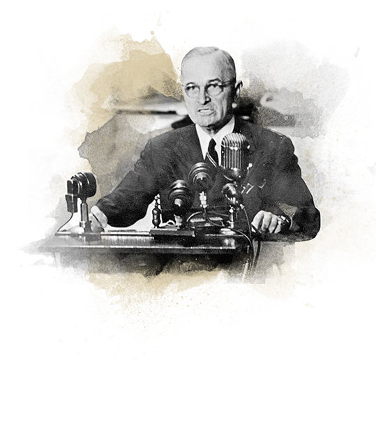 President Truman giving the Truman Doctrine speech